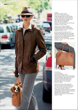 Charlotte in handbag ad